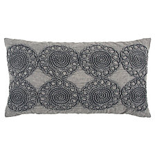 "Rizzy Home Gray 14"" X 26"" Medallion Poly Filled Pillow"