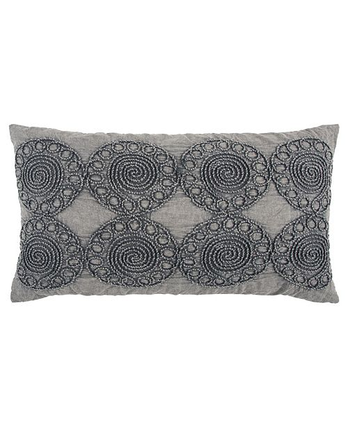 """Rizzy Home 14"""" x 26"""" Medallion Poly Filled Pillow"""