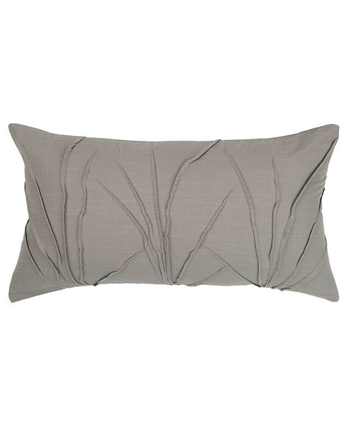 """Rizzy Home Solid 14"""" x 26"""" Textured Poly Filled Pillow"""