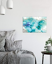 """""""Teal Marble"""" by Carol Robinson Gallery-Wrapped Canvas Print"""