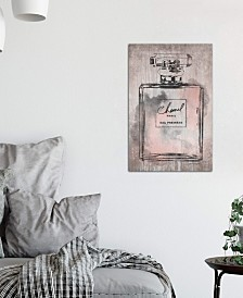 "iCanvas ""Perfume Bottle, Pink Grey Metallic Rose Gold"" by Amanda Greenwood Gallery-Wrapped Canvas Print"