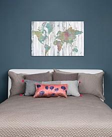 """Boho Map II"" by Jennifer Goldberger Gallery-Wrapped Canvas Print"