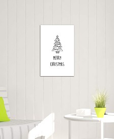 "iCanvas ""Merry Christmas B&W"" by Orara Studio Gallery-Wrapped Canvas Print"