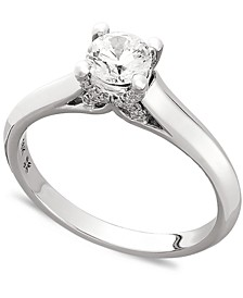 X3 Certified Diamond Engagement Ring in 18k Gold or 18k White Gold (1/2 ct. t.w.), Created for