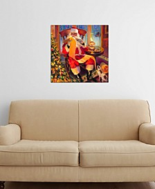 """Santa Christmas List"" by Steve Henderson Gallery-Wrapped Canvas Print"