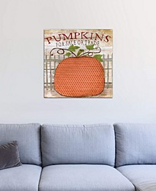 """""""Pumpkins For Sale"""" by Tava Studios Gallery-Wrapped Canvas Print (18 x 18 x 0.75)"""