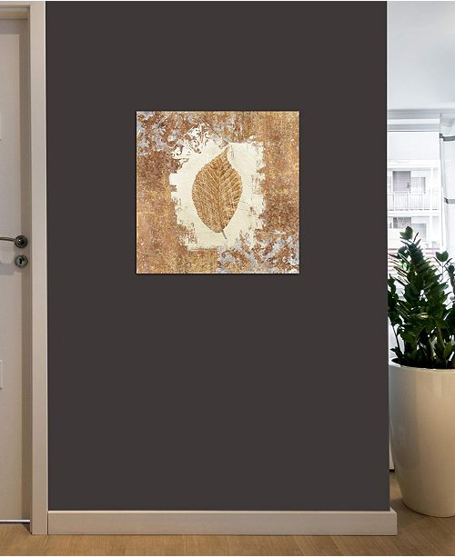 """iCanvas """"Gilded Leaf II"""" by Avery Tillmon Gallery-Wrapped Canvas Print (18 x 18 x 0.75)"""