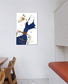 "iCanvas ""Gold Perfume Bottle With Navy Blue Splash"" by Amanda Greenwood Gallery-Wrapped Canvas Print (26 x 18 x 0.75)"