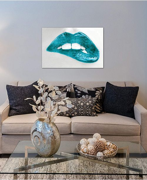 """iCanvas """"Luscious Teal"""" by Sarah McGuire Gallery-Wrapped Canvas Print (18 x 26 x 0.75)"""