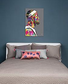 """LeBron"" by TECHNODROME1 Gallery-Wrapped Canvas Print (26 x 18 x 0.75)"