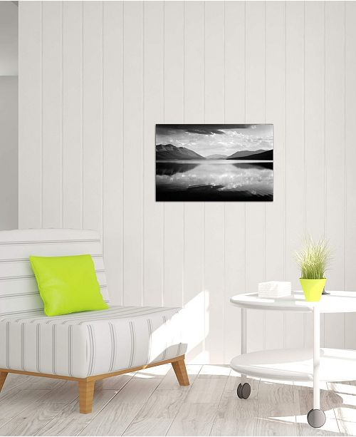 """iCanvas """"Evening, McDonald Lake, Glacier National Park"""" by Ansel Adams Gallery-Wrapped Canvas Print (18 x 26 x 0.75)"""