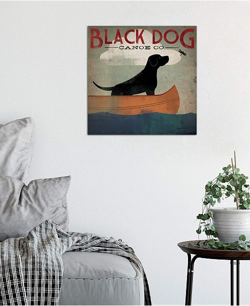 """iCanvas """"Black Dog Canoe Co. II"""" by Ryan Fowler Gallery-Wrapped Canvas Print (26 x 26 x 0.75)"""