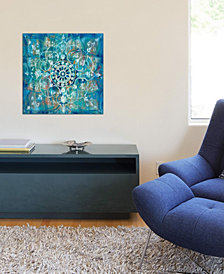 "iCanvas ""Mandala in Blue I"" by Danhui Nai Gallery-Wrapped Canvas Print (18 x 18 x 0.75)"