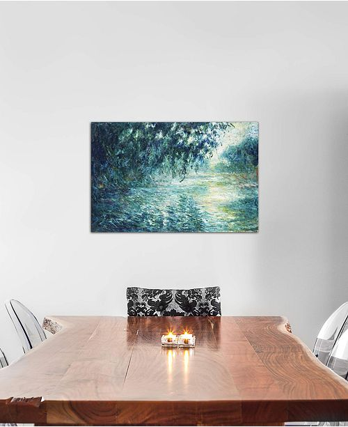 "iCanvas ""Morning on the Seine, near Giverny"" by Claude Monet Gallery-Wrapped Canvas Print (18 x 26 x 0.75)"