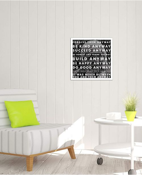 "iCanvas ""Mother Teresa Quote"" Gallery-Wrapped Canvas Print (26 x 26 x 0.75)"