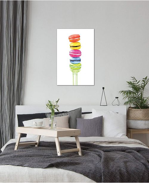 """iCanvas """"Macarons"""" by Rongrong DeVoe Gallery-Wrapped Canvas Print (40 x 26 x 0.75)"""