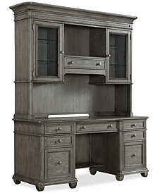 Sloane Home Office, 2-Pc. Set (Credenza & Hutch), Created for Macy's