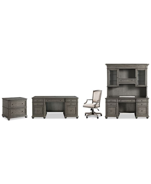 Furniture Sloane Home Office, 5-Pc. Set (Executive Desk, Credenza, Hutch, Lateral File Cabinet & Upholstered Desk Chair), Created for Macy's