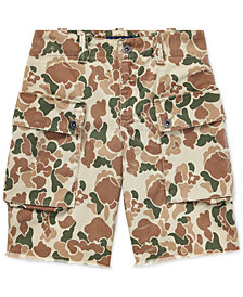 Polo Ralph Lauren Big Boys Relaxed Cotton Camo Cargo Shorts