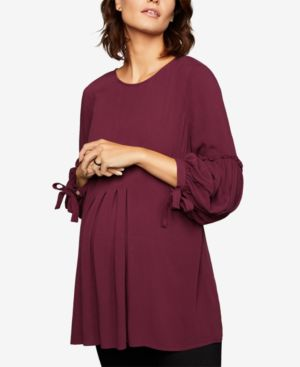 Image of A Pea In The Pod Maternity Babydoll Blouse