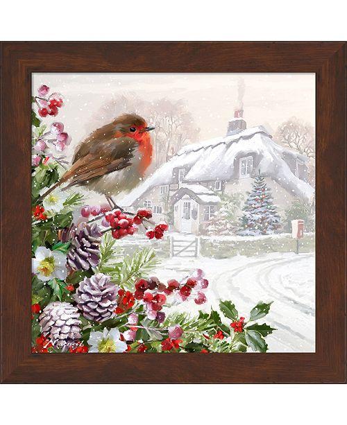 Metaverse Winter Robin by The Macneil Studio Framed Art