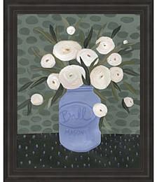 Mason Jar Bouquet IV by Emma Scarvey Framed Art