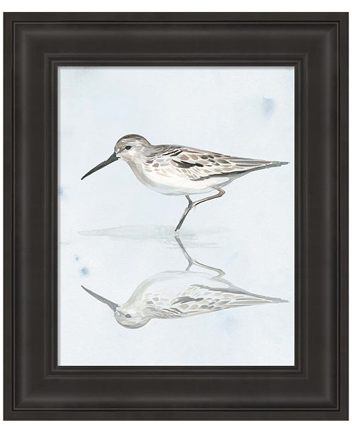 Metaverse Sandpiper Reflections II by Jennifer Parker Framed Art
