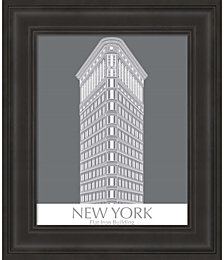 New York Flat Iron Building Monochrome by Fab Funky Framed Art