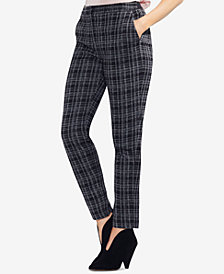 Vince Camuto Plaid Straight-Leg Pants, Created for Macy's