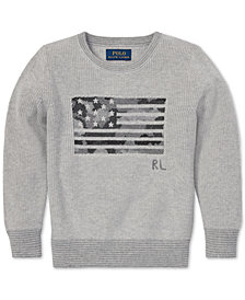 Polo Ralph Lauren Big Boys Camo Flag Cotton Sweater