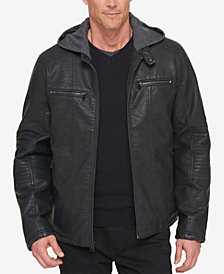 Levi's® Men's Faux-Leather Hooded Jacket