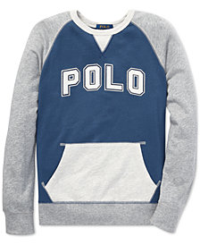 Polo Ralph Lauren Big Boys Cotton Spa Terry Sweatshirt