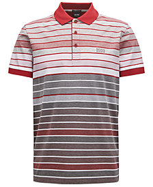 BOSS Men's Regular/Classic-Fit Striped Cotton Polo