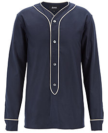BOSS Men's Felt Contrast-Pipe Shirt