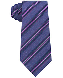 Kenneth Cole Reaction Men's Indigo Mix Stripe Slim Tie
