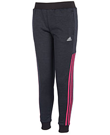 adidas Big Girls Fleece Jogger Pants