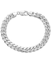 Men S Cuban Link Chain Bracelet In Sterling Silver