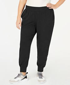 Ideology Plus Size Lace-Up Joggers, Created for Macy's