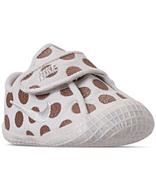 Nike Girls' Infant Waffle 1 Premium Crib Booties from Finish Line