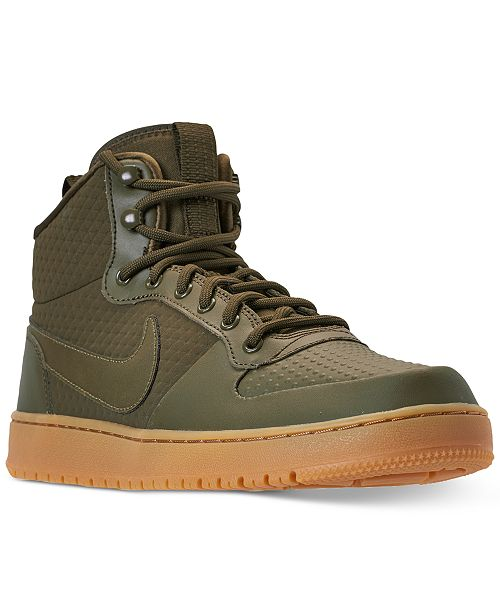 the latest 50282 f8a81 ... Nike Men s Ebernon Mid Winter Casual Sneakers from Finish Line ...