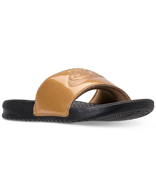 78cc55e16 ... Nike Women s Benassi Just Do It Print Slide Sandals from Finish Line ...