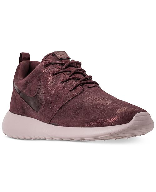 free shipping 2485c 9490e ... Nike Women s Roshe One Premium Casual Sneakers from Finish ...