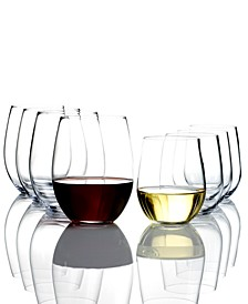 O Cabernet & Chardonnay Wine Glasses 8 Piece Value Set