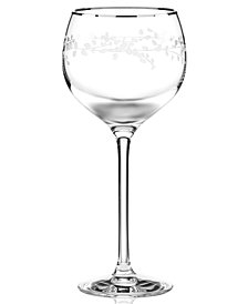 kate spade new york Gardner Street Platinum Signature Wine Glass