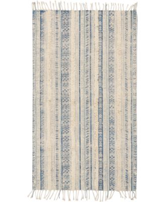 "Image of Nourison Tribal Chic Ivory Blue 27"" x 45"" Accent Rug"