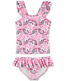 Carter's Little & Big Girls 2-Pc. Unicorn-Print Tankini