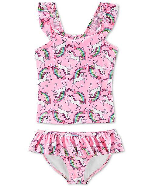 533cf9bf27679 Carter's Little & Big Girls 2-Pc. Unicorn-Print Tankini & Reviews ...