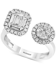 EFFY® Diamond Halo Cluster Cuff Ring (3/4 ct. t.w.) in 14k White Gold
