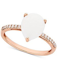 Opal (1-1/3 ct. t.w.) & Diamond (1/10 ct. t.w) Ring in 14k Rose Gold