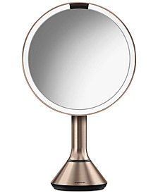 "simplehuman 8"" Rose Gold Sensor Mirror With Brightness Control"